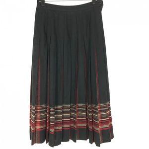 Pendleton Blue Virgin Wool Pleated Plaid Skirt 10